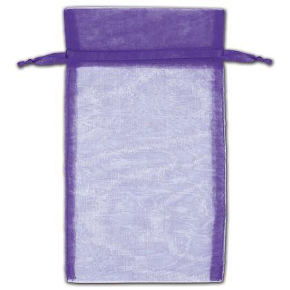 "Purple Organza Bags, 5 x 7"""