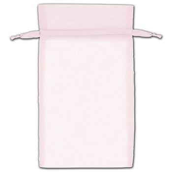 Pink Organza Bags, 6 x 10