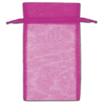 Hot Pink Organza Bags, 6 x 10