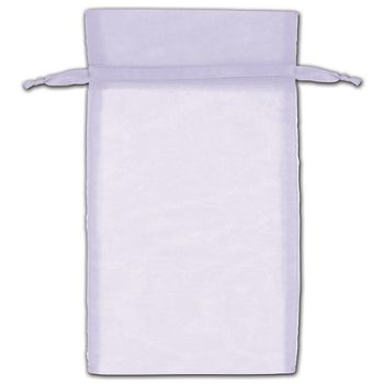 Lavender Organza Bags, 6 x 10