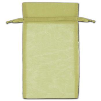 Moss Organza Bags, 6 x 10