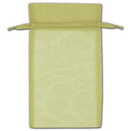 "Moss Organza Bags, 6 x 10"""