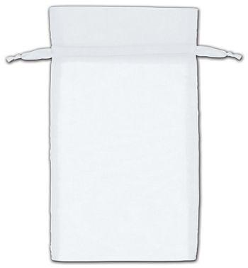 White Organza Bags, 6 x 10
