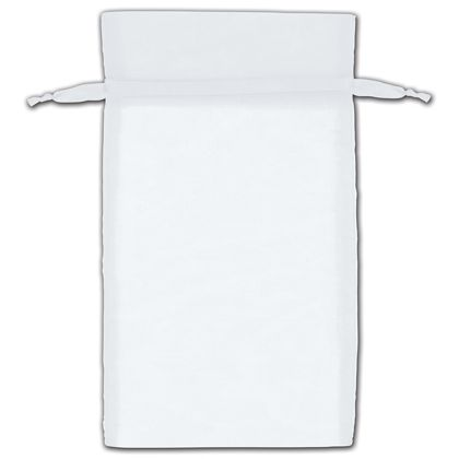"White Organza Bags, 6 x 10"""