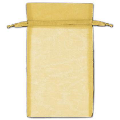 "Gold Organza Bags, 6 x 10"""