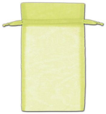 Mint Green Organza Bags, 6 x 10