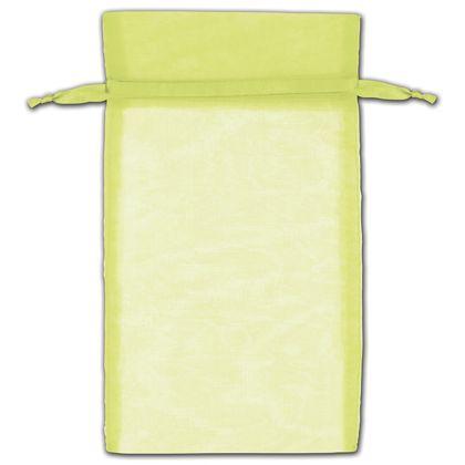 """Mint Green Organza Bags, 6 x 10"""""""