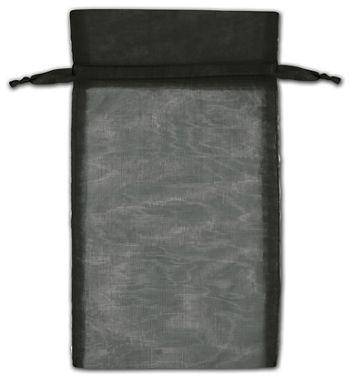 Black Organza Bags, 6 x 10