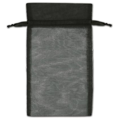 "Black Organza Bags, 6 x 10"""