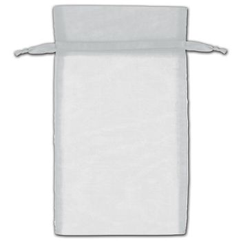 Silver Organza Bags, 6 x 10