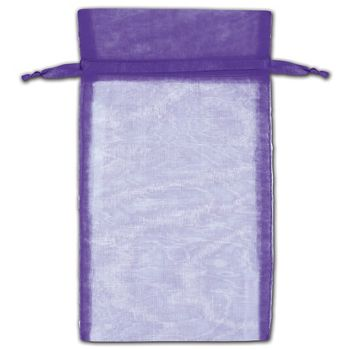 Purple Organza Bags, 6 x 10""