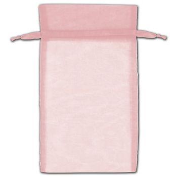 Mauve Organza Bags, 6 x 10
