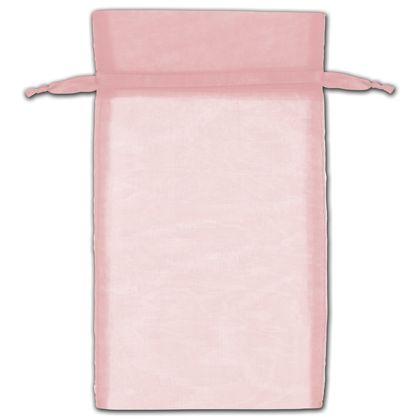 """Mauve Organza Bags, 6 x 10"""""""