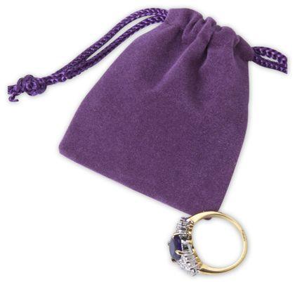 "Purple Velveteen Pouches, 2 x 2 1/2"""