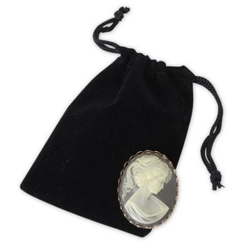 Black Velveteen Pouches, 3 x 4""