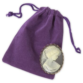 Purple Velveteen Pouches, 3 x 4