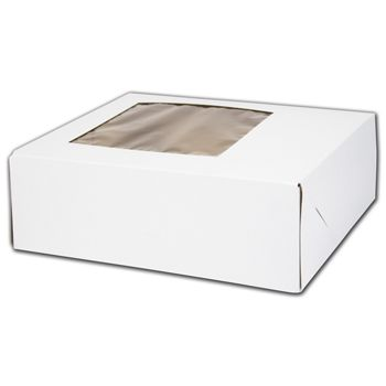 Catering Boxes with Window, 9 1/4 x 7 3/8 x 3 1/8