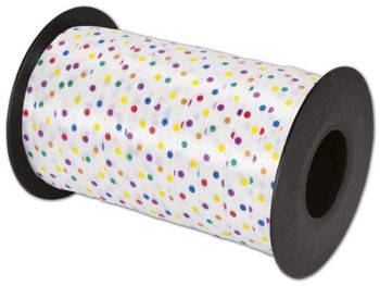 Splendorette Curling Fashion Dots Ribbon, 3/8