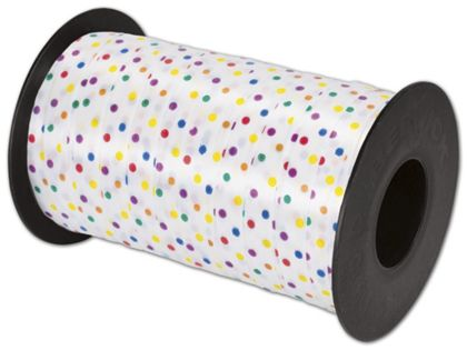 "Splendorette Curling Fashion Dots Ribbon, 3/8"" x 250 Yds"