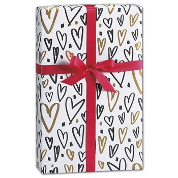 Hearts a Flutter Gift Wrap, 24