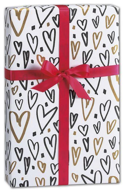 "Hearts a Flutter Gift Wrap, 24"" x 417'"