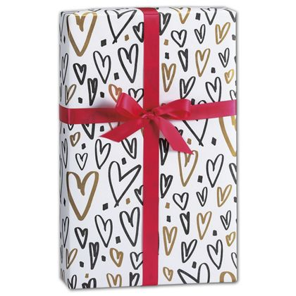 "Hearts a Flutter Gift Wrap, 24"" x 417'"