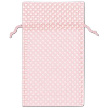 Light Pink Polka Dot Organdy Bags, 6 x 10