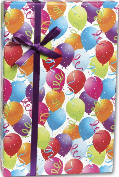 "Balloon Gift Wrap, 30"" x 208'"