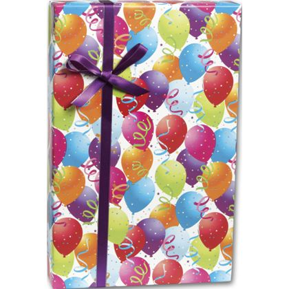 """Balloon Gift Wrap, 30"""" x 208'"""