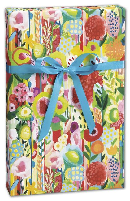 "Floral Collage Gift Wrap, 30"" x 417'"