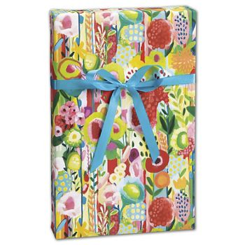 "Floral Collage Gift Wrap, 30"" x 208'"