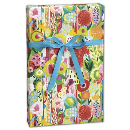 """Floral Collage Gift Wrap, 30"""" x 208'"""