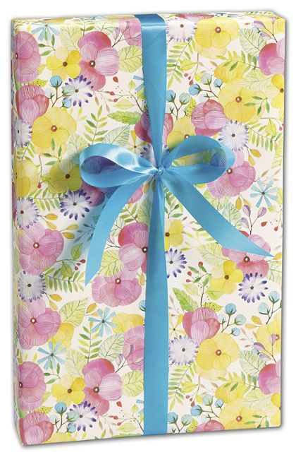 "Watercolor Petal Gift Wrap, 30"" x 417'"