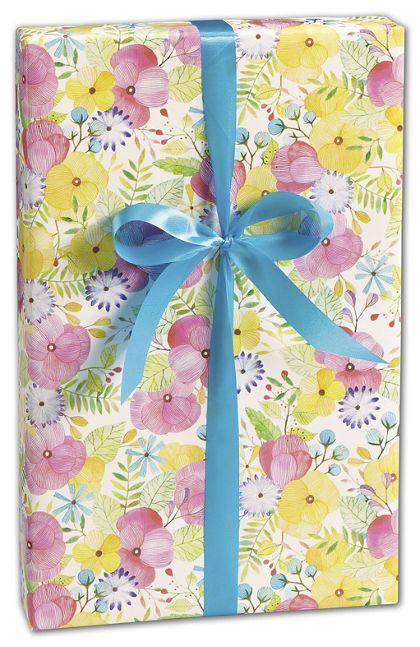 "Watercolor Petal Gift Wrap, 30"" x 208'"