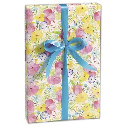 "Watercolor Petal Gift Wrap, 30"" x 208'"