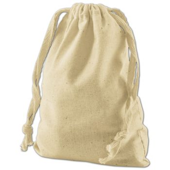 Tan Cotton Cloth Bags, 4 x 6""