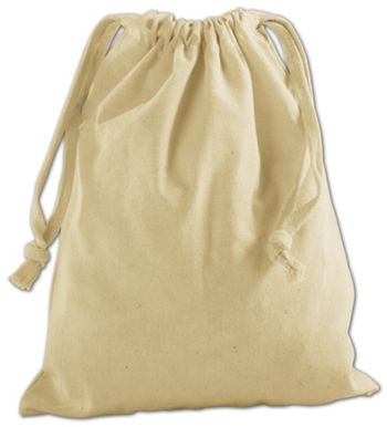 Tan Cotton Cloth Bags, 8 x 10
