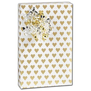 Golden Hearts Gift Wrap, 30
