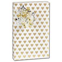 "Golden Hearts Gift Wrap, 30"" x 208'"