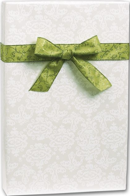 "Pearl Damask Gift Wrap, 30"" x 417'"