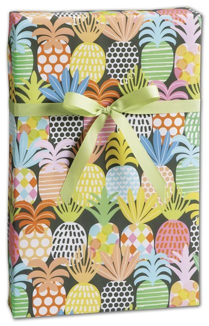 "Pineapple Pop Gift Wrap, 30"" x 417'"