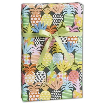 "Pineapple Pop Gift Wrap, 30"" x 208'"