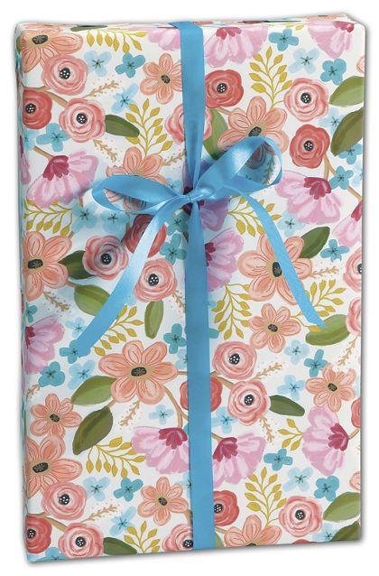 """Gypsy Floral Gift Wrap, 30"""" x 417'"""