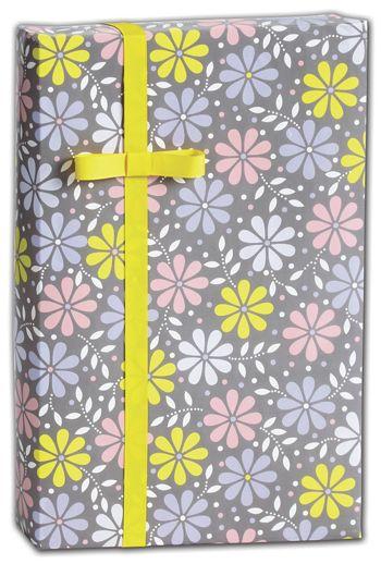 Baby Daisy Silver Gift Wrap, 30