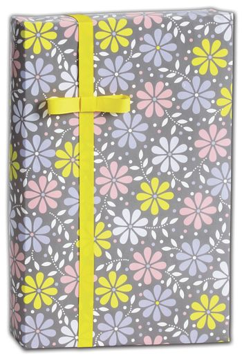 Baby Daisy Silver Gift Wrap, 30