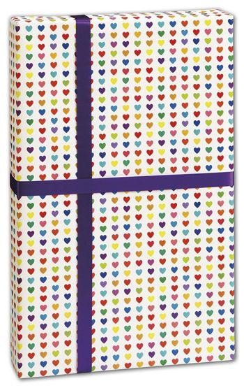 Rainbow Heart Gift Wrap, 30