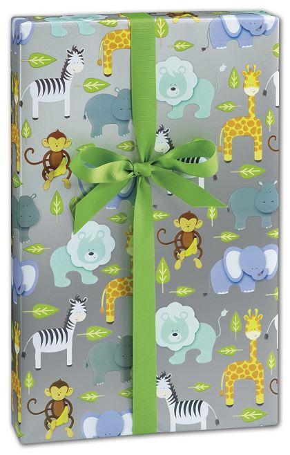 """Zoo Gift Wrap, 30"""" x 208'"""