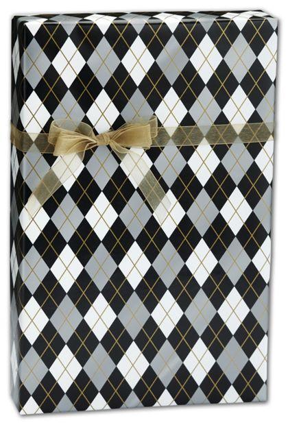 """Classic Argyle Gift Wrap, 30"""" x 417'"""