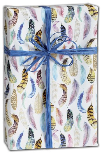 Featherly Gift Wrap, 30