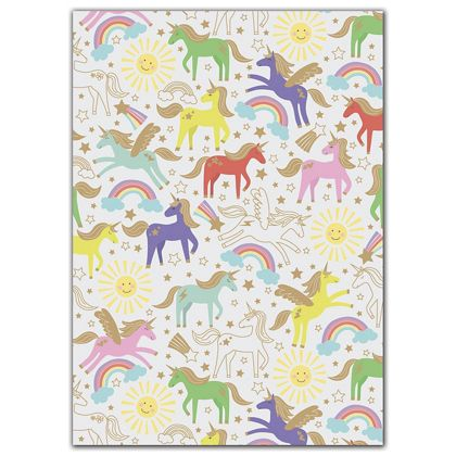 "Unicorn Gift Wrap, 30"" x 417'"